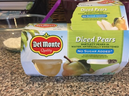 I went the easy way mainly so the pears would be softer