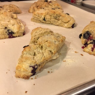 Blueberry Cream Cheese Scones - lightly brown