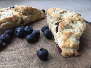Blueberry and cream cheese scones
