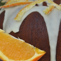 Chocolate Pound Cake with Orange Glaze